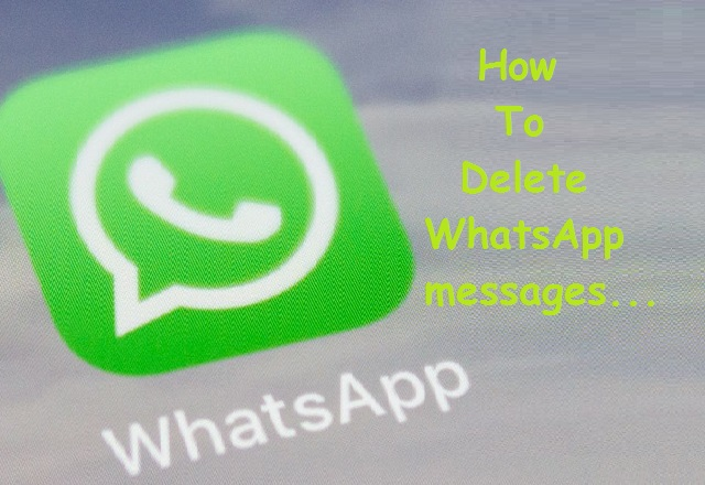 How to delete WhatsApp messages