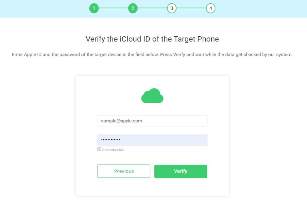 spyic verify icloud id guide