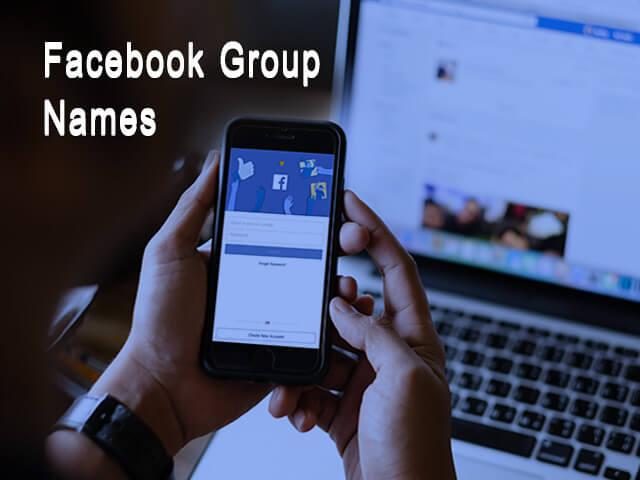 Facebook group names